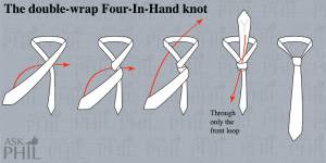 How to tie a tie: the double-wrap Four-In-Hand-knot