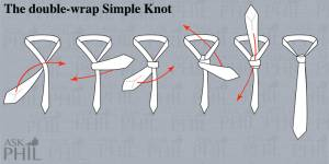 How to tie a tie: the double-wrap Simple Knot